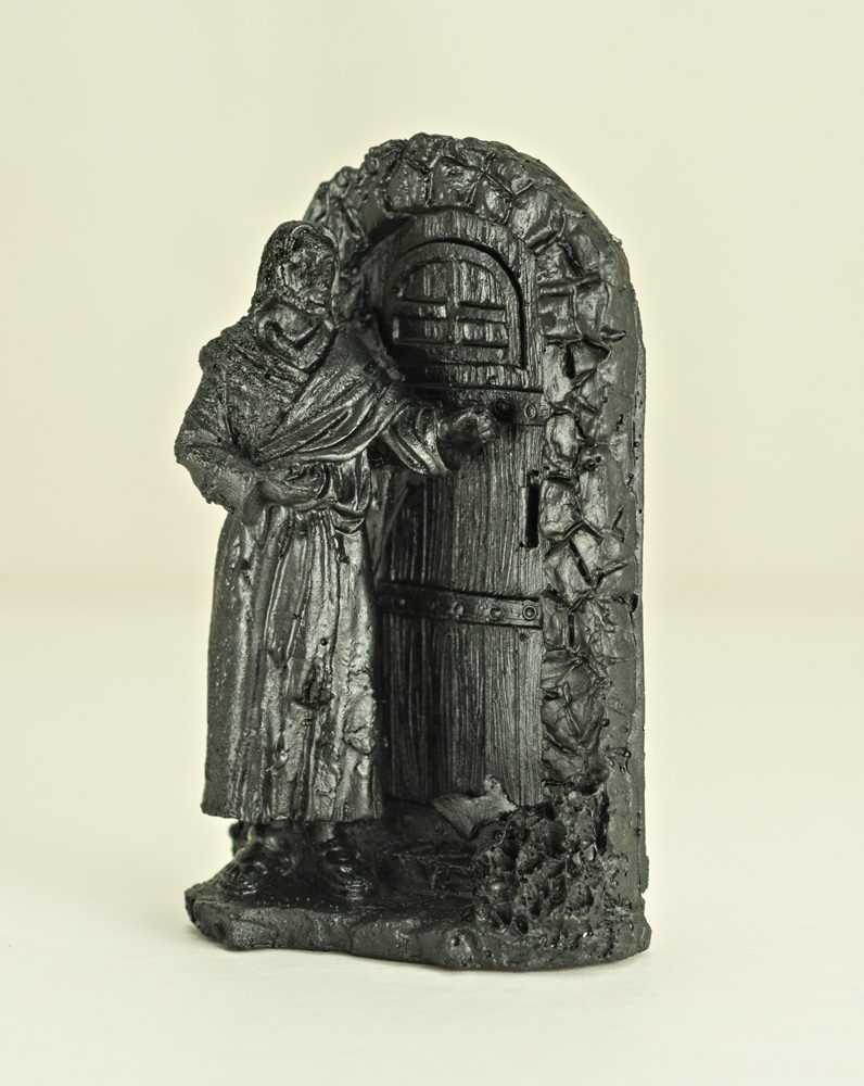 03094 Magnet, Jesus Knocking (coal)