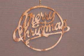 16009 Merry Christmas cut-out ornament