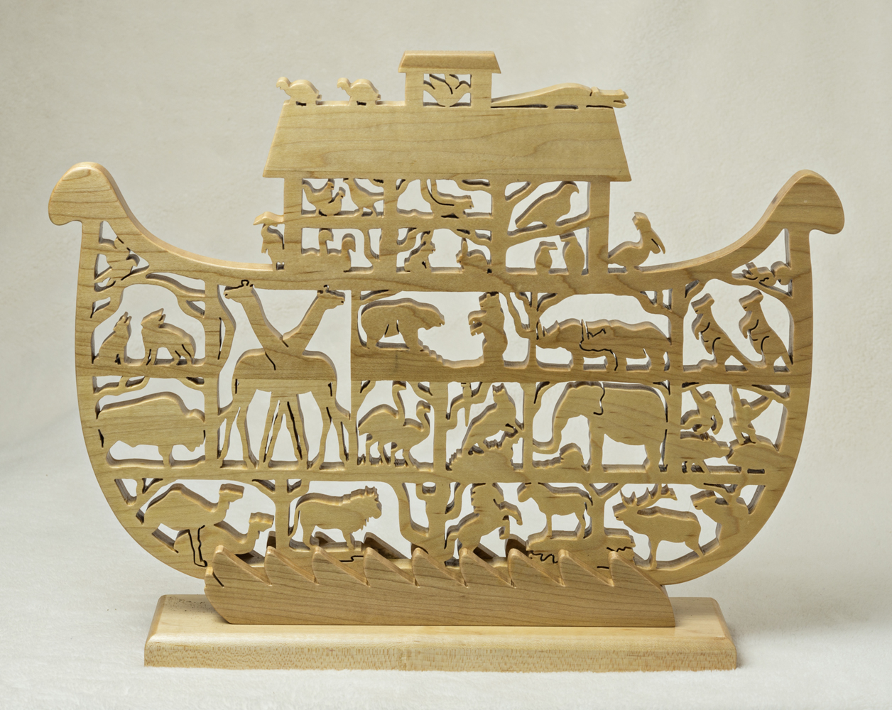 1717 Noah's Ark on water waves stand