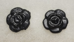 03006 Earrings. Rose (coal)