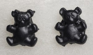 03006B Earrings, Bear (coal)