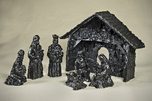 03049 Nativity set, coal (7pc)