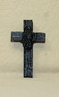 03098A Magnet, Cross with prayin' hands (coal)