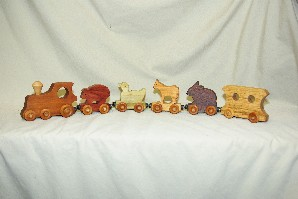 0569 Animal Train Set, 6pc magnetic