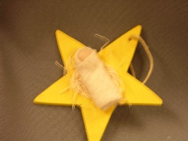 06174A Yellow Star w/Baby Ornament