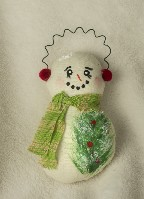 06191A Snowman, chubby cloth ornament