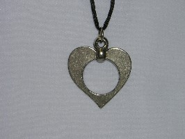 096079 Heart with Circle on cord