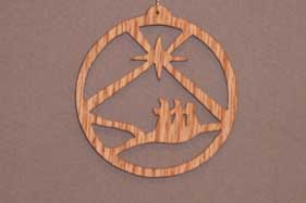 16032 Wisemen in Desert, cut-out ornament