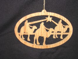 16128 Kings on Camel in Desert, cut-out ornament