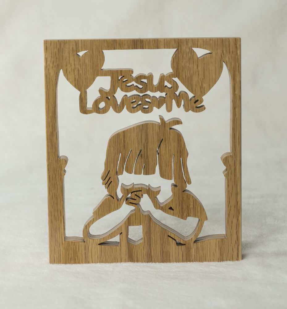 1726 Jesus loves me - Boy Plaque