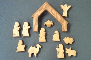 1781CS Nativity set, wood (12pc)