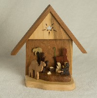 1783 3D Nativity, wood