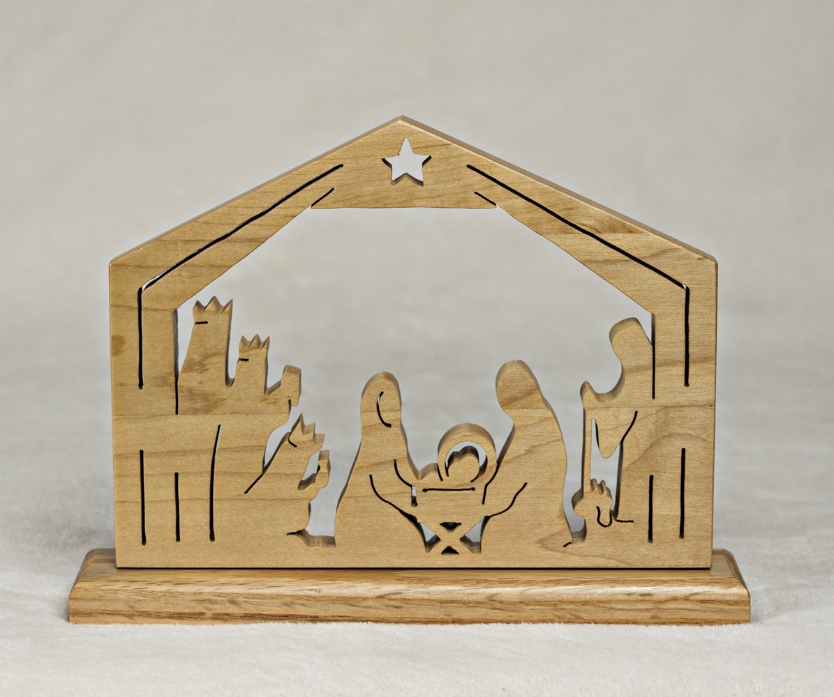 1759 Nativity Plaque on stand