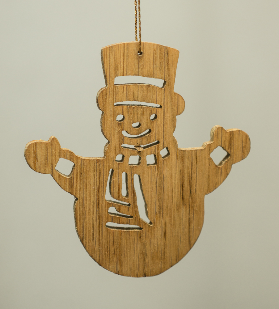 16022 Snowman cut-out ornament